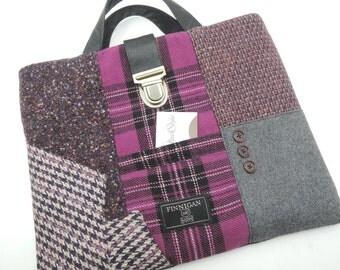 "Macbook  sleeve, iPad case, tote Recycled Suit Coat, Laptop Sleeve,  13"" macbook Pro  , Eco Friendly"