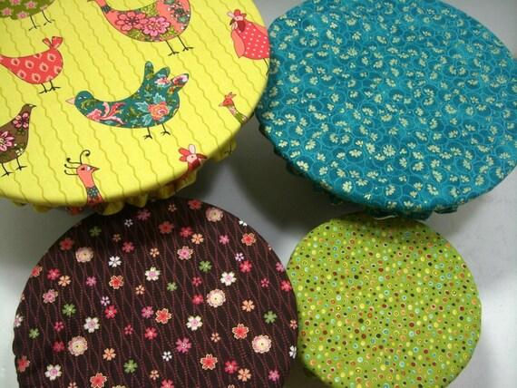 Custom listing for  Gail Serving Bowl covers, Nesting Bowl, Reusable Bowl Covers,  Food Prep, bird print, Eco-Friendly, Ready to Ship