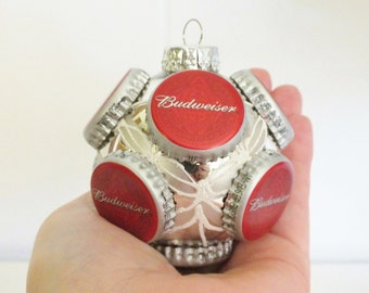 Budweiser Ornament - Recycled Beer Caps