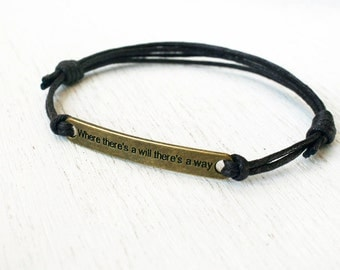 Motivational Quote Bracelet  (many color to choose)