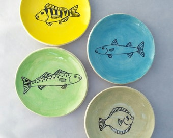 Fish Plates Set of Four