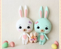 Bunny and Chick pdf Pattern - Instant Download