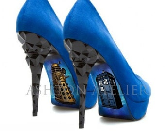 Custom hand painted Dr Who heels