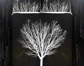 White Winter Tree Black Duvet Cover Bedding Queen Size King Twin Blanket Sheet Full Double Comforter Toddler Daybed Kid Teen Dorm