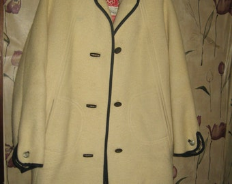 1960s   AUSTRIAN    vintage  Teller Official Olympic Austrian Ski Team 1960  wool Coat jacket sz 10