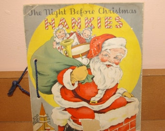 1941 The Night Before Christmas Hankies Book  Margot Voigt  Herrmann Handkerchief Co. USA