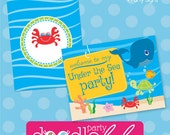 INSTANT DOWNLOAD DIY Printable Under the Sea Ocean Party Signs - 4 Versions/Designs from Doodlelulu by 2 june bugs