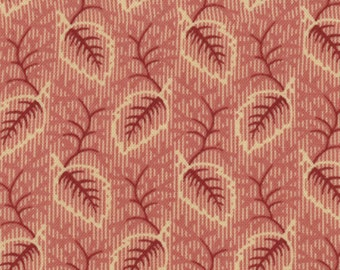 METROPOLITAN FAIR Moda Fabric 1/2 yd madder pie red Barbara Brackman America reproduction Wax Flowers shabby quilt leaves half yard 8233-14