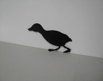Duckling 002 Metal Wall Yard Art Silhouette