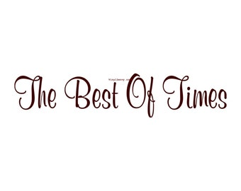 The Best of Times - Vinyl Wall Decal - Wall Decor, Wall Stickers, Wall Quotes, Photo Collage, Living Room