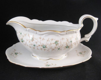 Lady Patricia Gravy Boat W/Attached Underplate by MITTERTEICH Germany