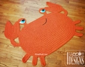 CROCHET PATTERN Cranky Crab Crochet Rug Nursery Mat Carpet PDF Crochet Pattern with Instant Download