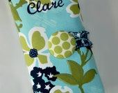 Choose Any Fabric in My Shop Spill Proof DPN Interchangeable Knitting Needle Organizer Zipper Pocket Olive Green Aqua Navy Blue Dots Floral