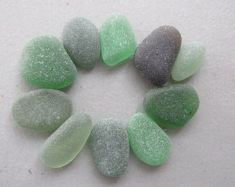 Green Seaglass, Beach Glass Jewelry Supply, Genuine Sea Glass, Jewelry Making
