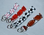 Fun, Sports Themed Ribbon Key Chains