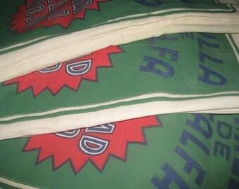 Grain Sack Feed Sack Semilla de Alfalfa Seed Green Red Bag Nice Bright Colors Feedsack Grainsack Yuma Arizona