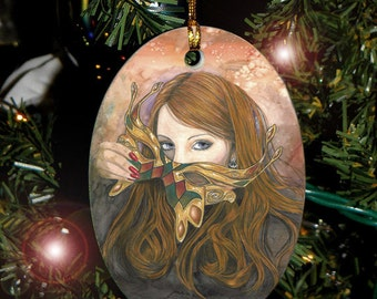 Autumn Masque Charm / Ornament