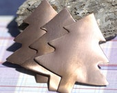 Copper Blank Large Christmas Tree 62mm x 57mm Metal Blanks Shape Form