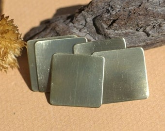 Brass 22g 20mm Square Blank Cutout for Metalworking Stamping Texturing