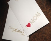 Mother's Day Stationery Gift Set Sale - personalized stationery or note cards for mom from KBatty Design and Stationery