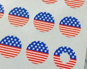 Americana - Trendy Page Dots - Circle Reinforcements - Labels, Stickers - 4th of July, Patriotic