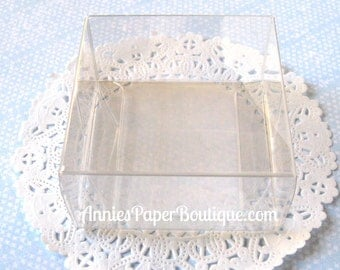 "Clear Boxes {12} - Chocolate Boxes - 2-3/4"" x 2-3/4"" - Candy, Favor, Food, School & Teacher Gifts, Favors, Confection - 2.75"" x 2.75"""