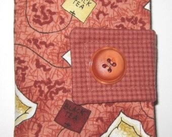 Varietal Tea Bags on Rust Tea Bag Wallet