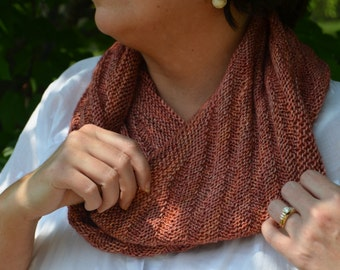Millie Infinity Scarf: A Knit Pattern for a Reversible Cowl