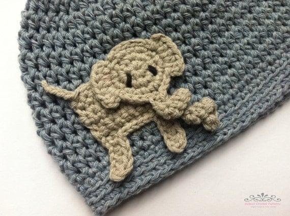 Easy Peasy Crochet Hat Patterns : Boys crochet hat pattern Easy Peasy Boys Hat with Elephant