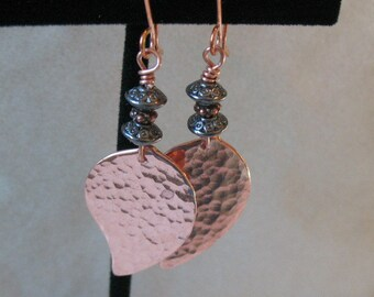 Dangle earrings in mixed metals-Hancrafted dangle earrings