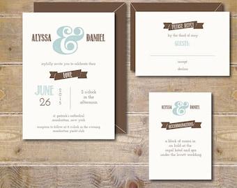 Rustic Wedding Invitations Vintage Fall Ampersand Barn
