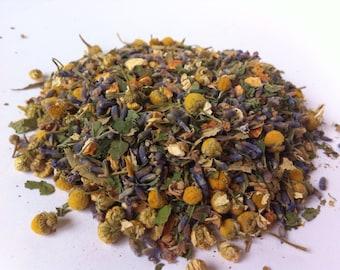 HARMONY TEA (Organic Loose Leaf Relaxing Herbal Tea Blend) Sample Sizes