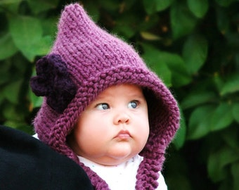 Knitting Pattern - Pixie Hood (Baby, Toddler, Child sizes)