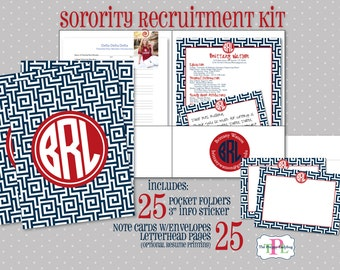 Sorority Recruitment Recommendation Kit - Set of 25 - The Orginal Sorority Rush Kit!