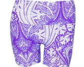 Puprple Swirl  Yoga Swim Exercise Shorts Pole Dancing Fitness Fashion Clothing Accessory