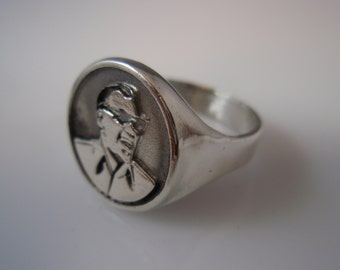 Ray Charles-Ray Charles Robinson  Ring Solid Sterling Silver 925