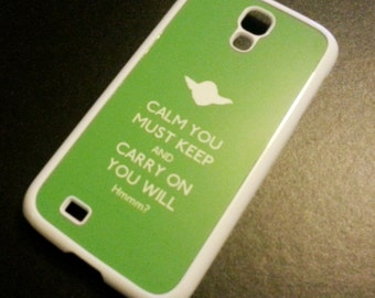Star Wars Yoda inspired Keep Calm Samsung Galaxy S4 case