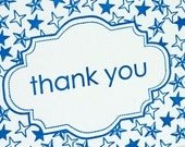 SALE - BOXED Thank You Letterpress Card - Starry