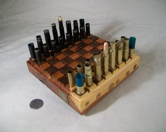 Mini - BULLET SHELL  Steampunk Chess Set #2