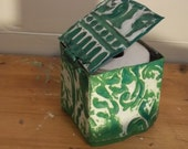 HIDE YOUR PAPER repurpose old tin square holder with a lid