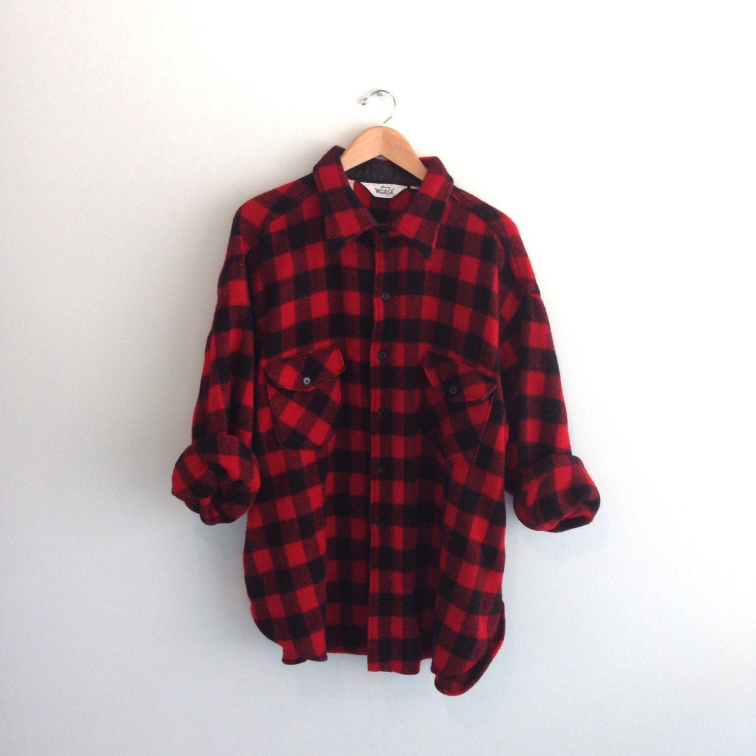 70s vintage woolrich buffalo plaid flannel shirt hunting for Buffalo check flannel shirt jacket