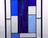 The Blues Stained Glass Abstract Panel Suncatcher