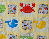 Little whales Baby Quilt