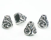 Scroll Cone by TierraCast Fine Silver Over Pewter 4 pcs 94-5609-12