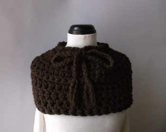 Clearance Scarf Cowl A Womans brown soft chunky neckwarmer Ready to ship