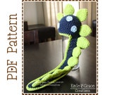 Dinosaur Hat Crochet Pattern, 8 Sizes from Newborn to Adult, LONG TAIL DINO - pdf 136