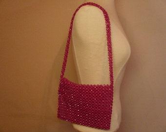 Vintage 1960's Pink Beaded Handbag