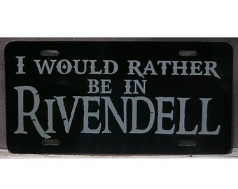 Lord of the Rings Rivendell License Plate Elven Car Tag