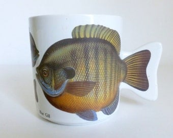 Vintage c. 1991 Blue Gill Fish Coffee Mug by Salamander