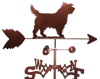 Hand Made Cairn Terrier Dog Weathervane NEW